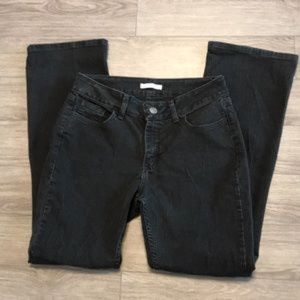 Black Lee Riders mid rise boot cut jeans size 10